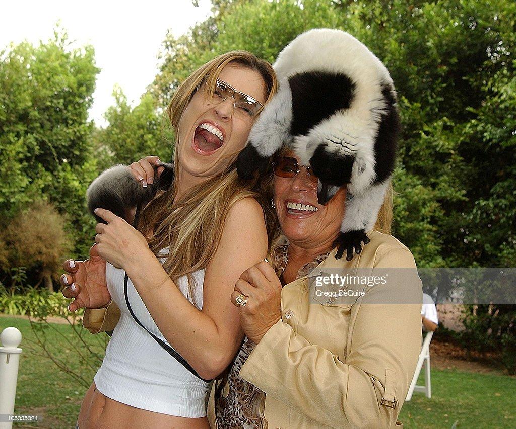 Jillian Barberie, Martine Colette, Founder & Director of the Wildlife Waystation, & Boo the Lemur