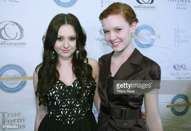 Jillian Clare and Madisen Beaty attend the Multicultural Learning Center's 2nd Annual Harmony Gala Benefit Dinner at Pickwick Gardens on March 13...