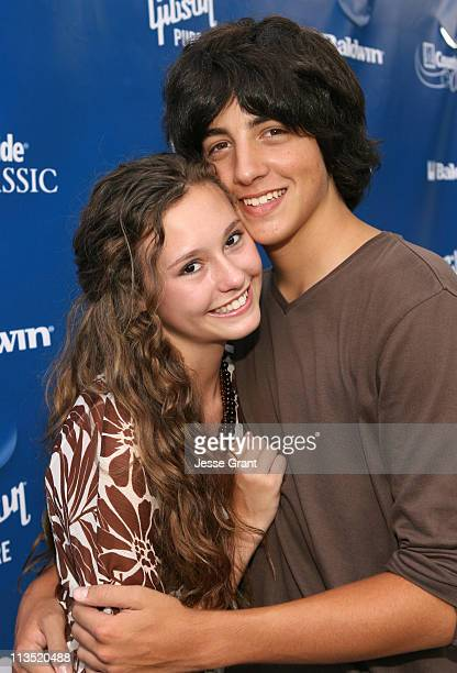 Jillian Clare and Vinnie Pergola during Gibson and Baldwin Host 2006 'Night at the Net' Red Carpet at Los Angeles Tennis Center in Los Angeles...
