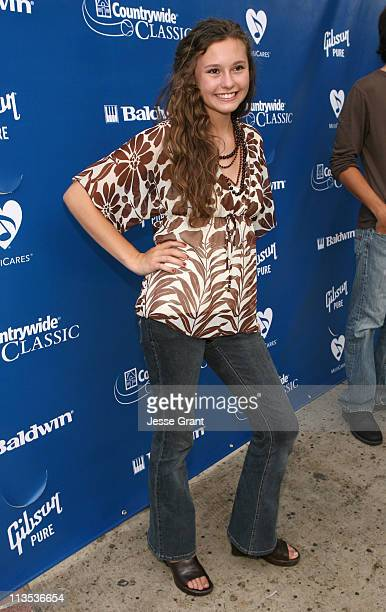 Jillian Clare during Gibson and Baldwin Host 2006 'Night at the Net' Red Carpet at Los Angeles Tennis Center in Los Angeles California United States