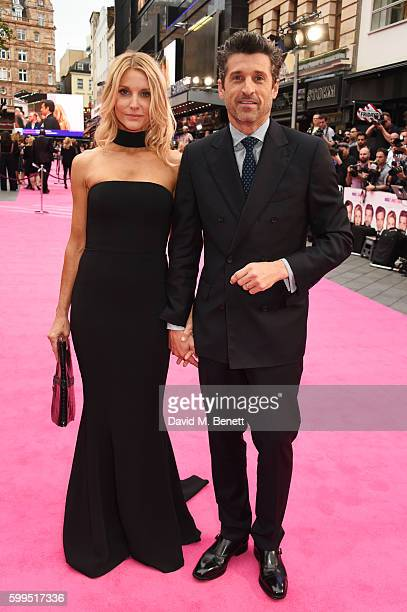 Jillian Dempsey and Patrick Dempsey attend the World Premiere of 'Bridget Jones's Baby' at Odeon Leicester Square on September 5 2016 in London...