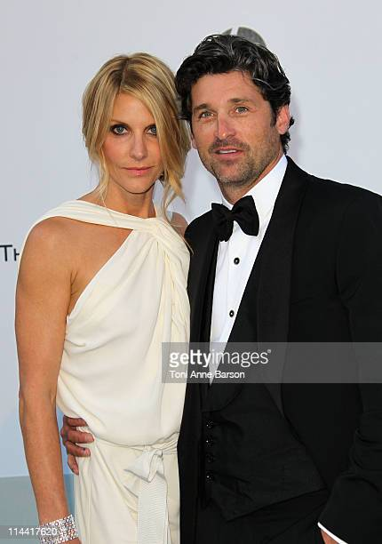 Jillian Dempsey and Patrick Dempsey attends amfAR's Cinema Against AIDS Gala during the 64th Annual Cannes Film Festival at Hotel Du Cap on May 19...