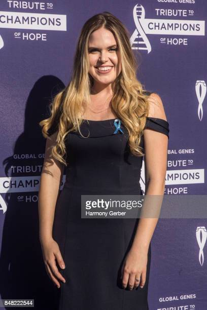 Jillian Escoto attends the Global Genes' 6th Annual Tribute To Champions Of Hope Awards at City National Grove of Anaheim on September 16 2017 in...