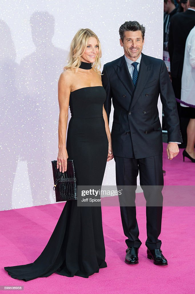 Jillian Fink and Patrick Dempsey arrive for the World premiere of 'Bridget Jones's Baby' at Odeon Leicester Square on September 5, 2016 in London, England.