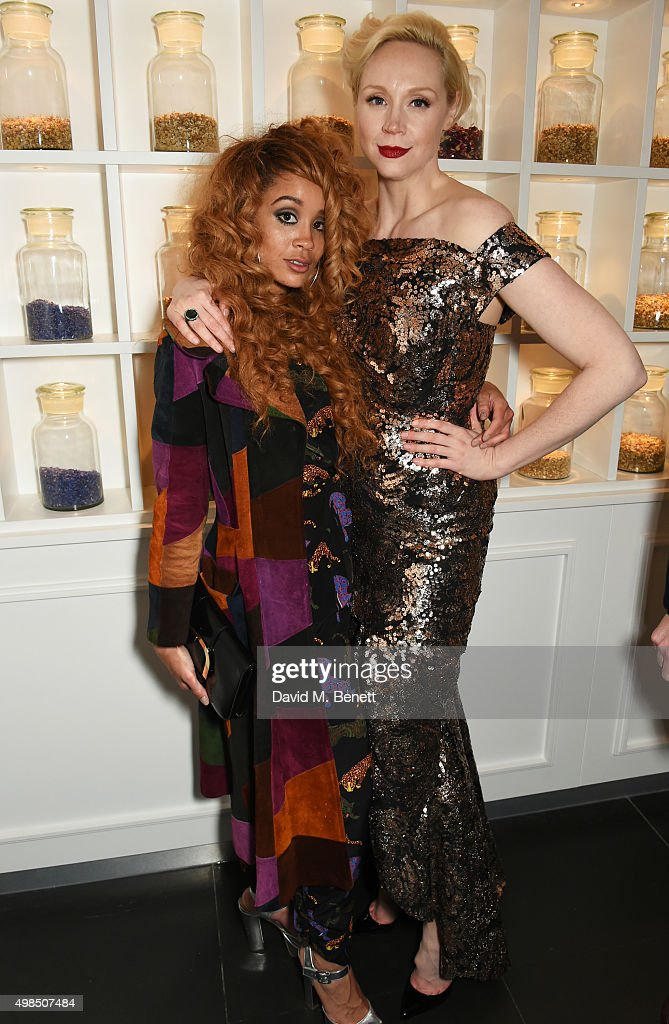 Jillian Hervey (L) and Gwendoline Christie attend the British Fashion Awards official afterparty hosted by St Martins Lane and sponsored by Ciroc Vodka at St Martins Lane on November 23, 2015 in London, England.