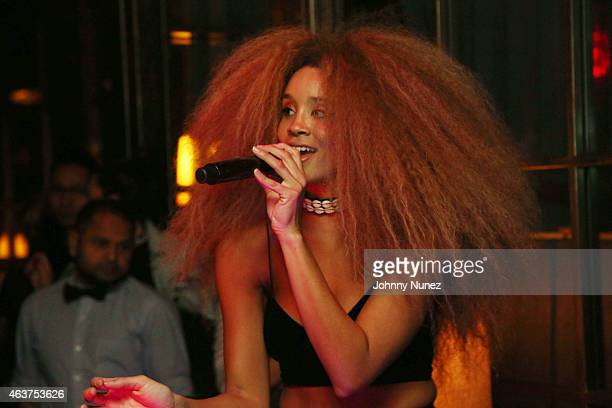 Jillian Hervey of Lion Babe performs at Soho House on February 17 2015 in New York City
