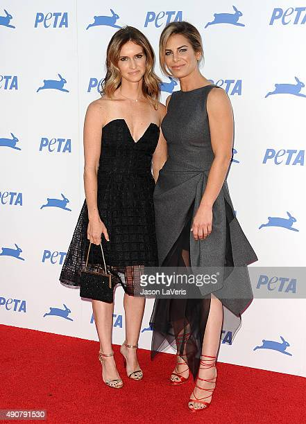 Jillian Michaels and Heidi Rhoades attend PETA's 35th anniversary party at Hollywood Palladium on September 30 2015 in Los Angeles California