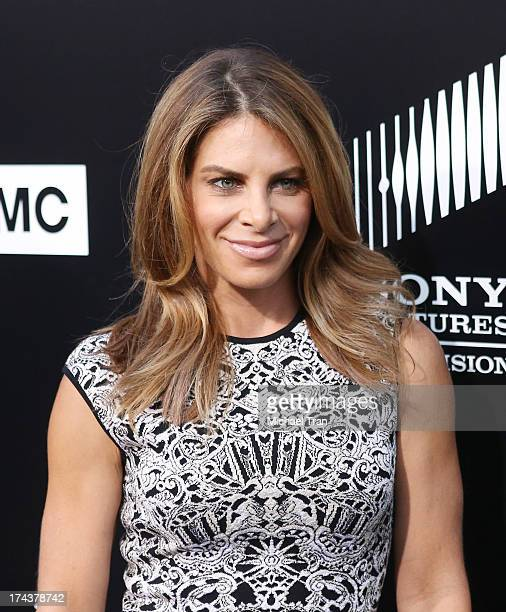 Jillian Michaels arrives at AMC's 'Breaking Bad' special premiere event held at Sony Pictures Studios on July 24 2013 in Culver City California
