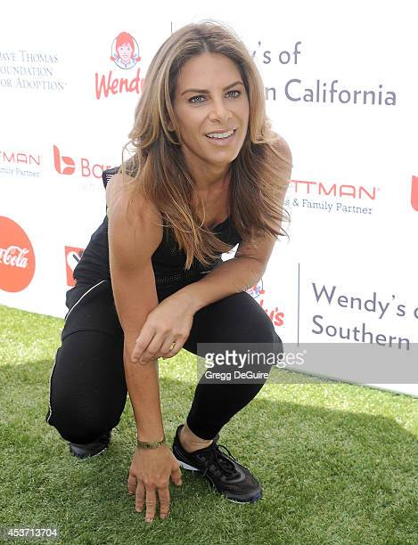Jillian Michaels arrives at The Dave Thomas Foundation for adoption's kickball for a home celebrity kickball game at University of Southern...