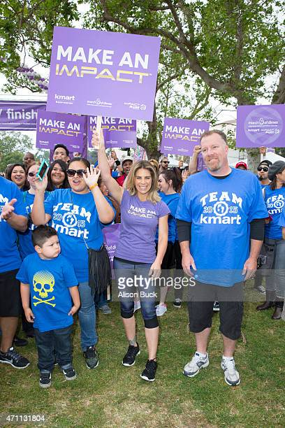 Jillian Michaels attends KMart And Jillian Michaels Team Up For March For Babies Los Angeles Walk on April 25 2015 at Exposition Park in Los Angeles...