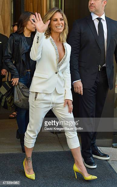 Jillian Michaels is seen departing the Jacob Javits Center on May 14 2015 in New York City
