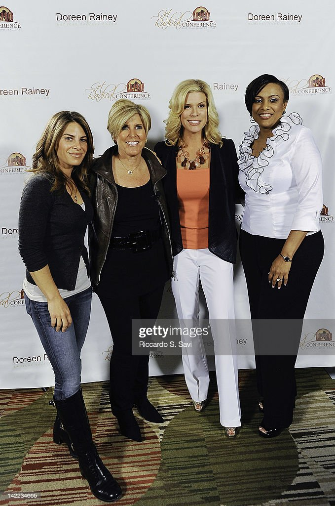 Jillian Michaels, Suze Orman, Ali Brown and Doreen Rainey attend the 4th Annual Get Radical Women's conference at the Hyatt Regency on March 31, 2012 in Reston, Virginia.