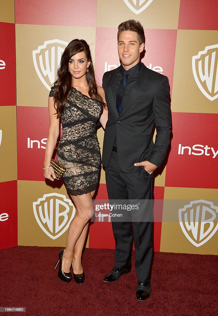 Jillian Murray and actor Dean Geyer attend the 2013 InStyle and Warner Bros 70th Annual Golden Globe Awards PostParty held at the Oasis Courtyard in...