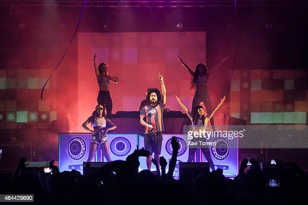Jillionaire of Major Lazer performs on stage at Sala Razzmatazz on August 18 2015 in Barcelona Spain