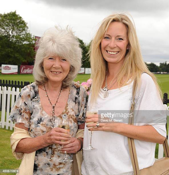 Jilly Cooper and Emily attends the Cartier Queen's Cup Final at Guards Polo Club on June 15 2014 in Egham England