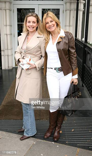 Jilly Cooper and her Daughter during Giles Deacon and Dima Rashid VIP Designer Lunch Outside Arrivals March 27 2006 in London