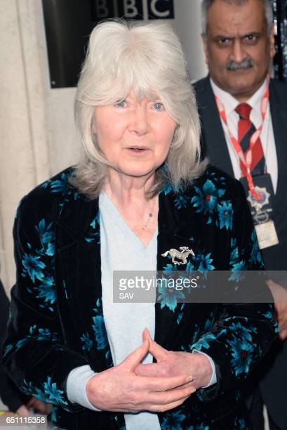 Jilly Cooper at BBC Radio 2 on March 10 2017 in London England