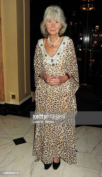 Jilly Cooper attends Fashion For The Brave at The Dorchester Hotel on October 26 2010 in London England
