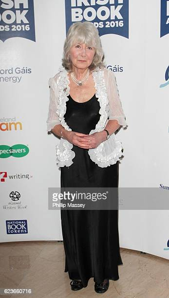 Jilly Cooper attends the Bord Gais Energy Irish Book Awards at Double Tree Hilton Hotel on November 16 2016 in Dublin Ireland