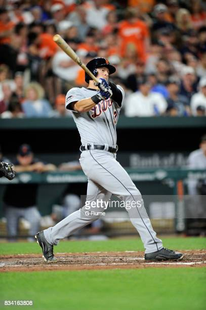Jim Adduci of the Detroit Tigers bats against the Baltimore Orioles at Oriole Park at Camden Yards on August 5 2017 in Baltimore Maryland