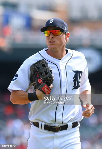 Jim Adduci of the Detroit Tigers looks on during the game against the Houston Astros at Comerica Park on July 30 2017 in Detroit Michigan The Tigers...