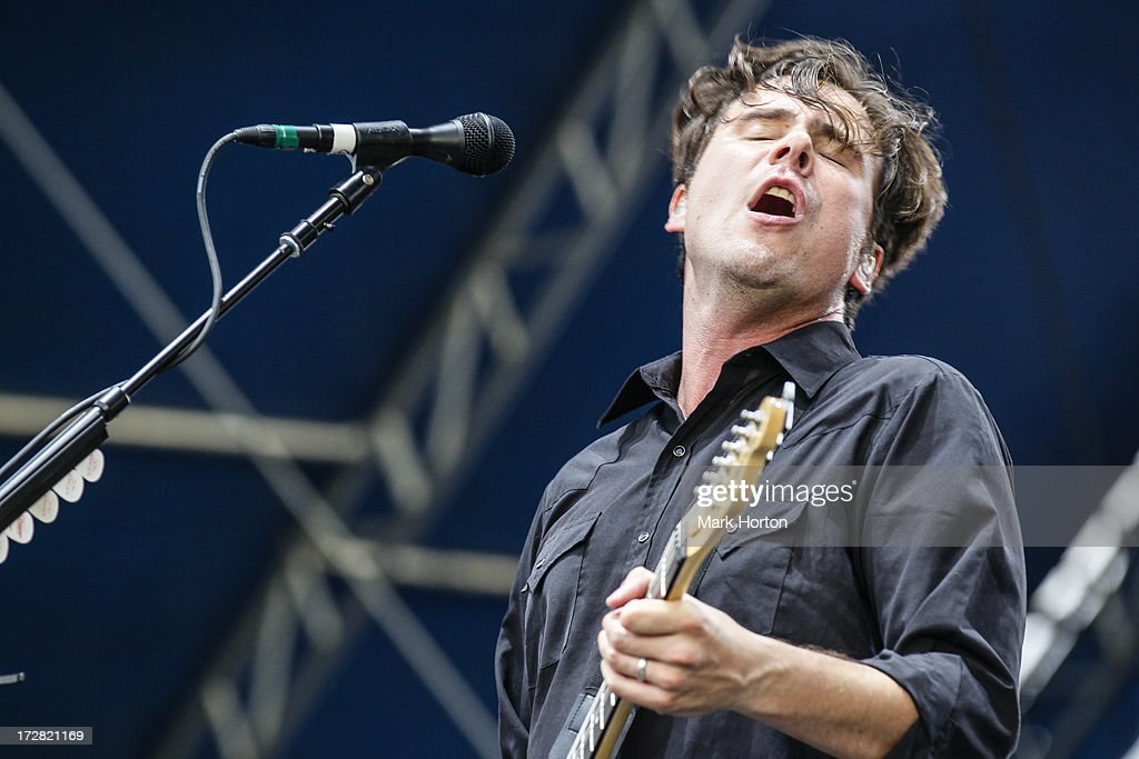 <a gi-track='captionPersonalityLinkClicked' href=/galleries/search?phrase=Jim+Adkins&family=editorial&specificpeople=213568 ng-click='$event.stopPropagation()'>Jim Adkins</a> of Jimmy Eat World performs on Day 1 of the RBC Royal Bank Bluesfest on July 4, 2013 in Ottawa, Canada.