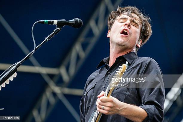 Jim Adkins of Jimmy Eat World performs on Day 1 of the RBC Royal Bank Bluesfest on July 4 2013 in Ottawa Canada