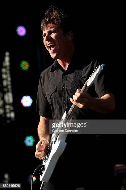 Jim Adkins of the band Jimmy Eat World performs at AO Open Sessions during day five of the 2017 Australian Open at Melbourne Park on January 20 2017...