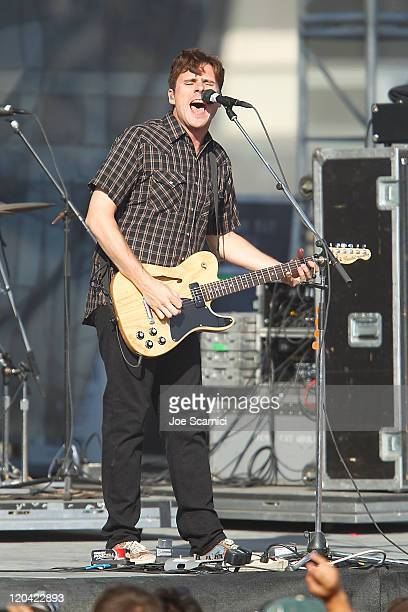 Jim Adkins of the band Jimmy Eat World performs at the 2011 US Open of Surfing on August 5 2011 in Huntington Beach California