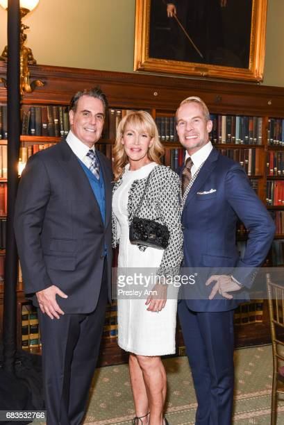 Jim Aman Laura Aman and John Meeks attend Audrey Gruss' Hope for Depression Research Foundation Dinner with Author Daphne Merkin at The Metropolitan...