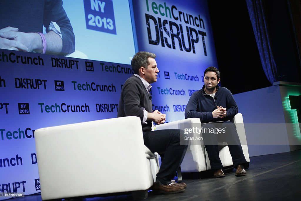 Jim Bankoff of Vox Media speaks onstage with Eric Eldon at the TechCrunch Disrupt NY 2013 at The Manhattan Center on April 29, 2013 in New York City.
