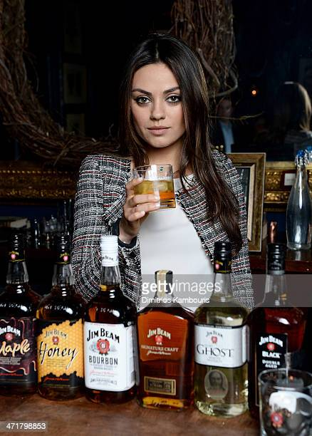 Jim Beam Bourbon welcomes its firstever global partner and spokesperson Mila Kunis to the family with a 'Make History' cocktail reception on February...