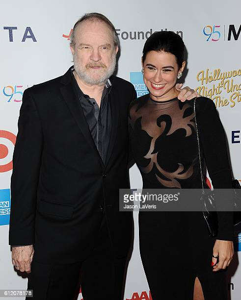 Jim Beaver and Sarah Spiegel attend MPTF's 95th anniversary celebration 'Hollywood's Night Under The Stars' on October 1 2016 in Los Angeles...