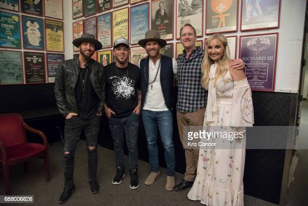 Jim Beavers Heather Morgan Drake White and Preston Trust and Chris Lucas of Locash perform during the CMA Songwriters Series at The Kennedy Center of...