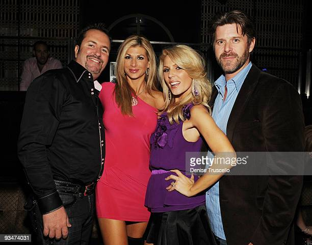 Jim Bellino Alexis Bellino Gretchen Rossi and Slade Smiley attend LAVO Nightclub at The Palazzo on November 29 2009 in Las Vegas Nevada