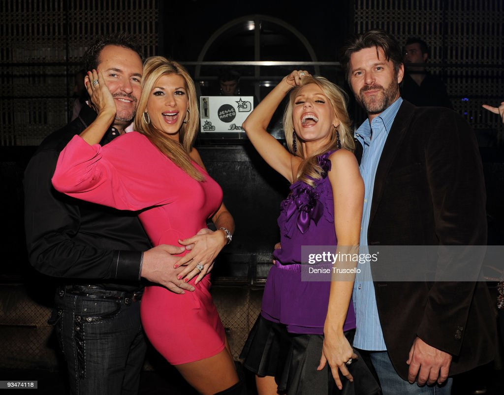 Real Housewives of  Orange County Gretchen Rossi and Alexis Bellino at LAVO
