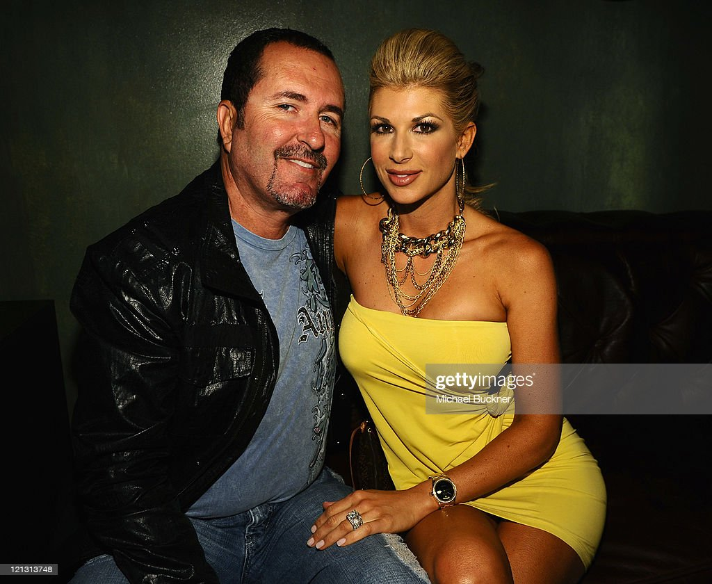Jim Bellino and Real Housewife of Orange County Alexis Bellino attend the LG Revolution party hosted by Verizon at The Sayers Club on August 17 2011...