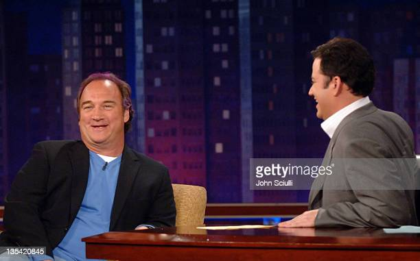 Jim Belushi and Host Jimmy Kimmel on the 'Jimmy Kimmel Live' show on ABC Photo by John Sciulli/WireImagecom/ABC