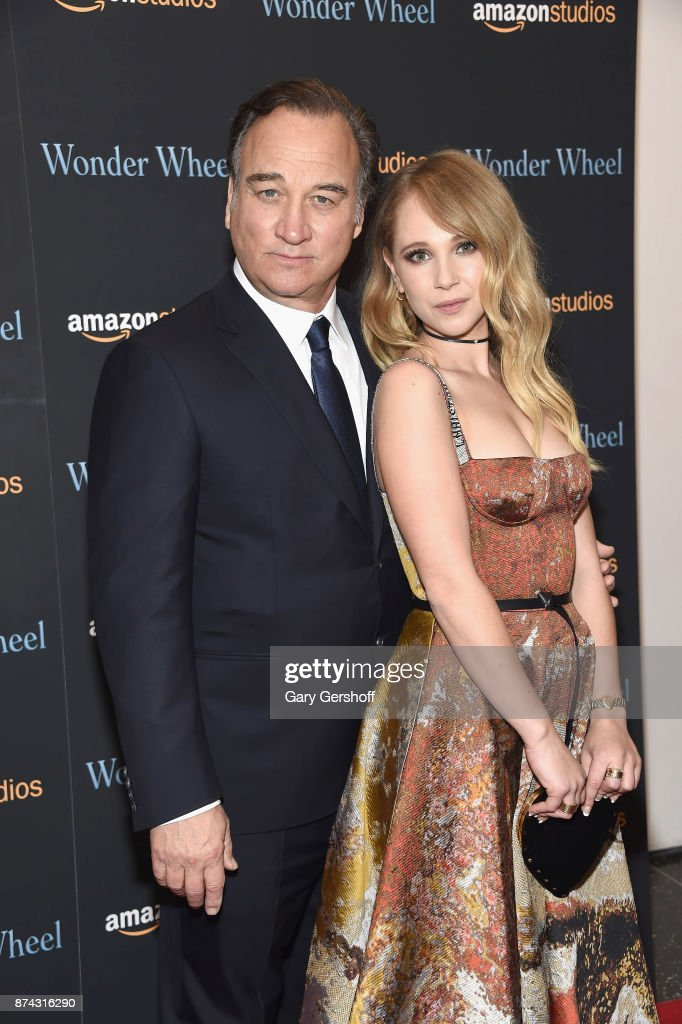 Jim Belushi and Juno Temple attend the 'Wonder Wheel' New York screening at the Museum of Modern Art on November 14, 2017 in New York City.