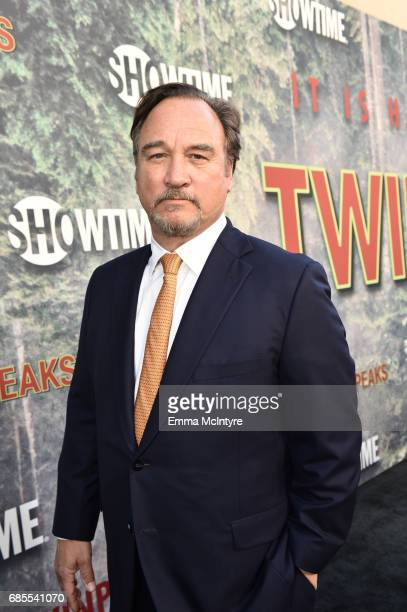 Jim Belushi attends the premiere of Showtime's 'Twin Peaks' at The Theatre at Ace Hotel on May 19 2017 in Los Angeles California