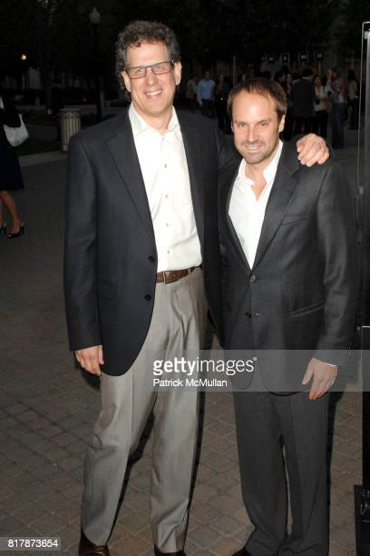 Jim Berk and Jeff Skoll attend Waiting For 'Superman' Premiere at Paramount Theatre on September 20 2010 in Hollywood California