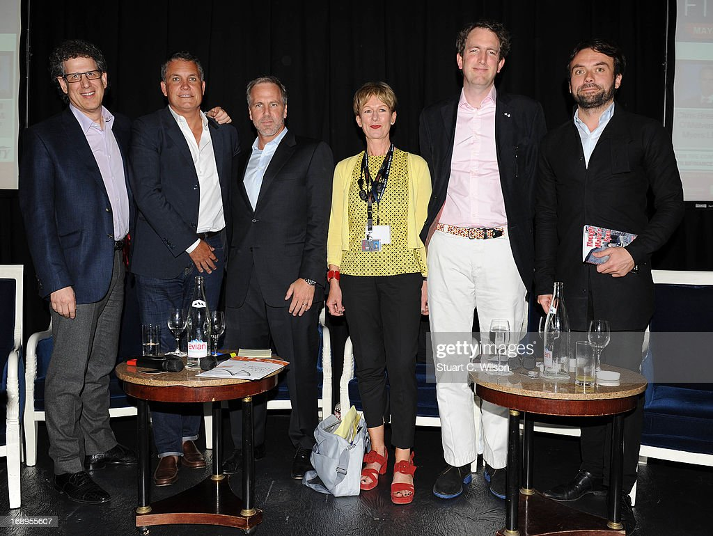 Jim Berk, Stuart Ford, Chris Brearton, Libby Savill, Florian Dargel and Sebstian Raybaud attend the 4th Annual International Film Finance Forum presented by Winston Baker in association with Variety at the Intercontinental Carlton Hotel during The 66th Annual Cannes Film Festival on May 17, 2013 in Cannes, France.