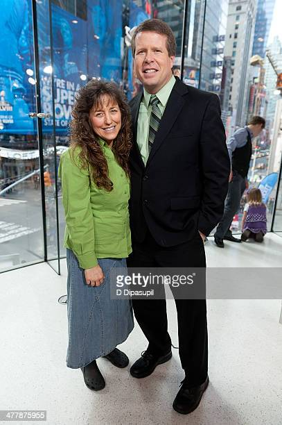 Jim Bob Duggar and wife Michelle Duggar visit 'Extra' at their New York studios at HM in Times Square on March 11 2014 in New York City