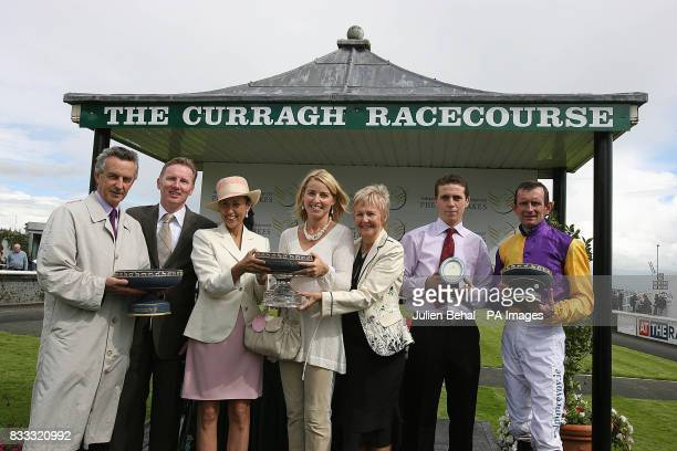 Jim Bolger Ruairi O'Coileain Lady Chyrss O'Reilly Michelle O'Coileain Jackie Bolger Tom Adis and jockey Kevin Manning who won the Independent...