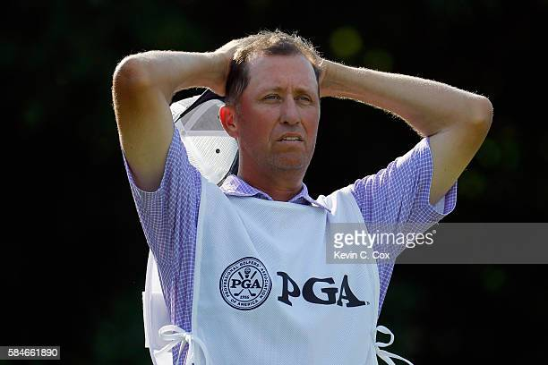 Jim 'Bones' Mackay looks on from the 12th hole during the second round of the 2016 PGA Championship at Baltusrol Golf Club on July 29 2016 in...