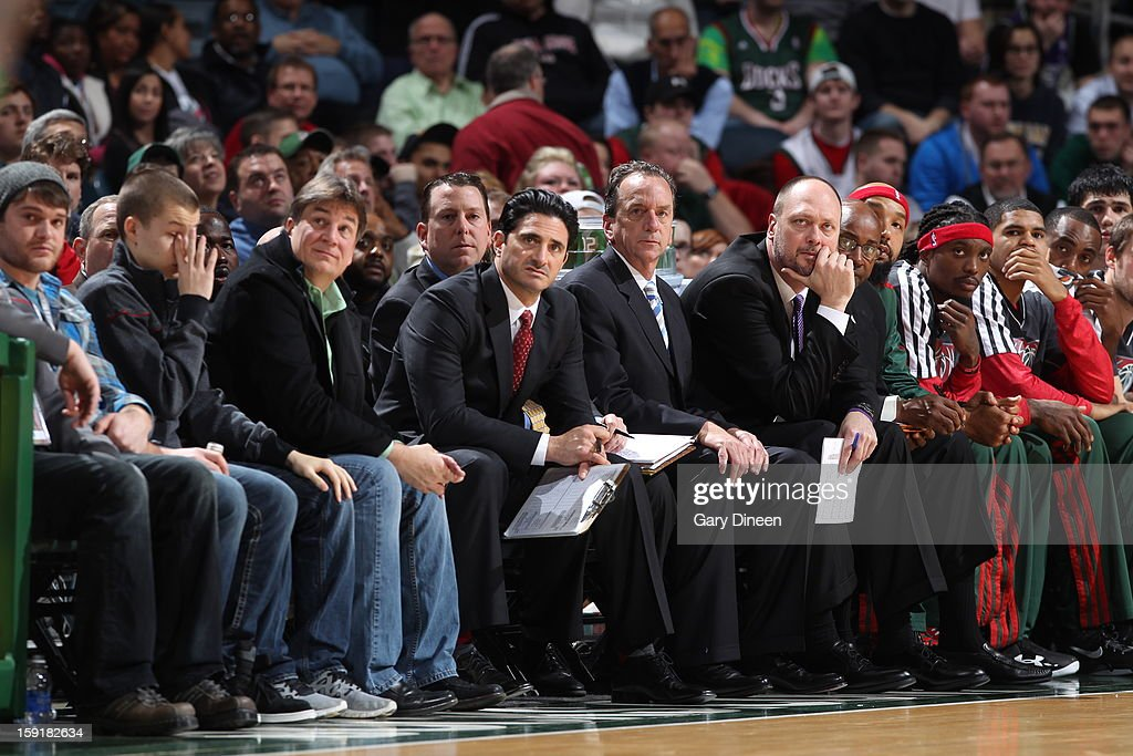 Jim Boylan assistant coach of the Milwaukee Bucks during the game against the Phoenix Suns on January 8, 2013 at the BMO Harris Bradley Center in Milwaukee, Wisconsin.