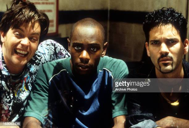 Jim Breuer Dave Chappelle and Guillermo Díaz in a scene from the film 'Half Baked' 1998