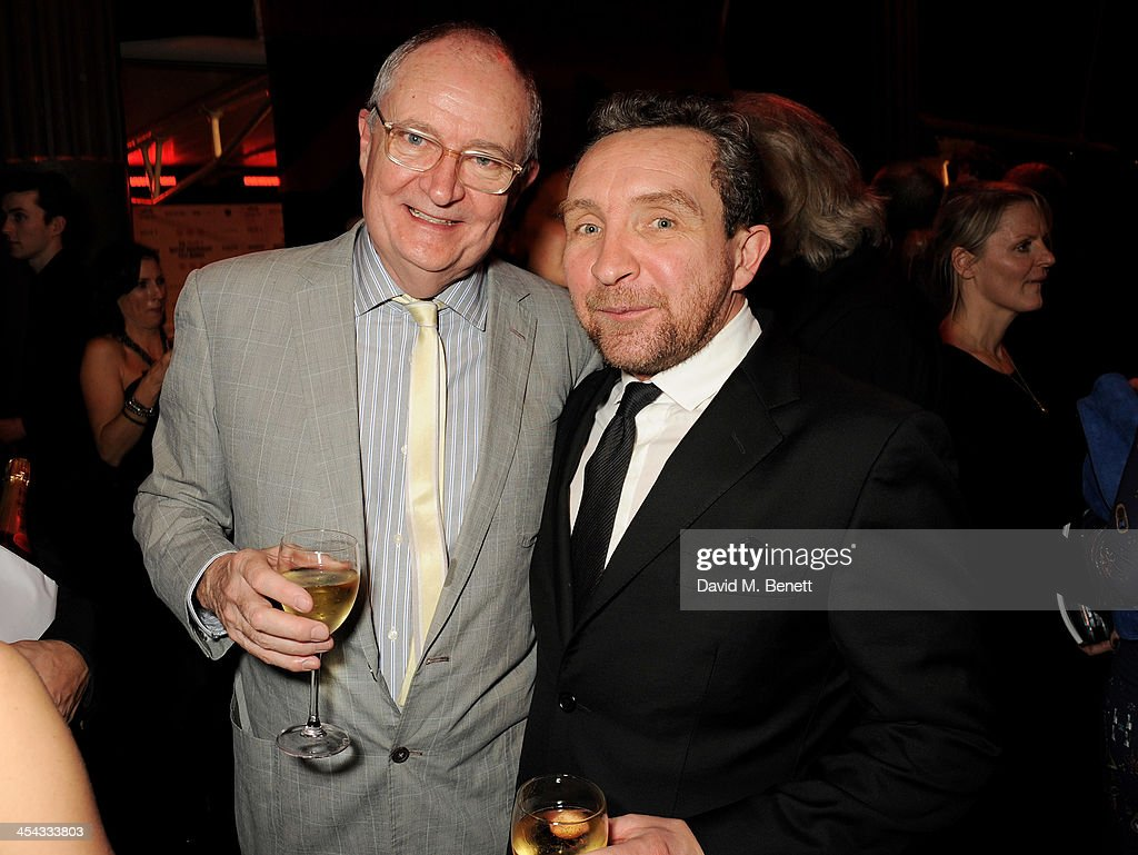 Jim Broadbent (L) and Eddie Marsan attend an after party following the Moet British Independent Film Awards 2013 at Old Billingsgate Market on December 8, 2013 in London, England.