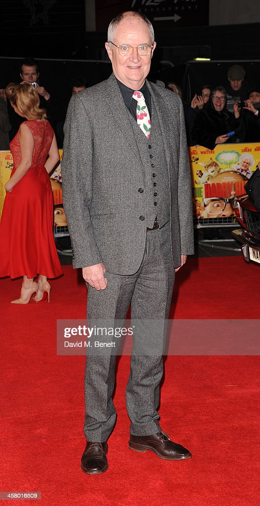 <a gi-track='captionPersonalityLinkClicked' href=/galleries/search?phrase=Jim+Broadbent&family=editorial&specificpeople=208678 ng-click='$event.stopPropagation()'>Jim Broadbent</a> attends 'The Harry Hill Movie' World Premiere at Vue Leicester Square on December 19, 2013 in London, England.