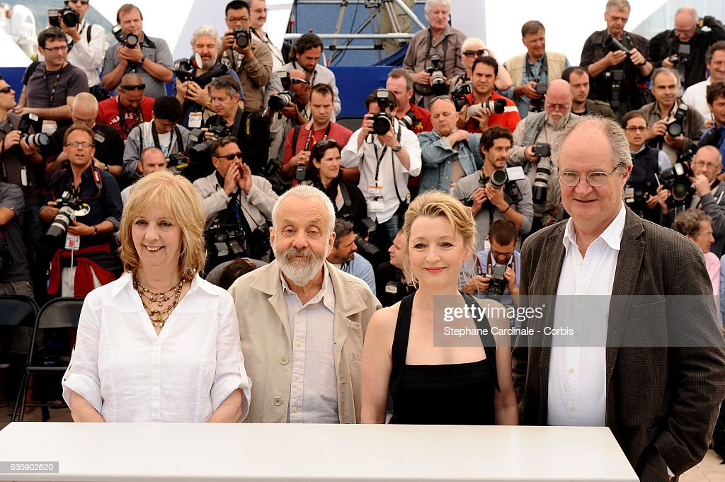 Jim Broadbent, Lesley Manville, Mike Leigh and Ruth Sheen at the Photocall for 'Another year Premiere' during the 63rd Cannes International Film Festival.